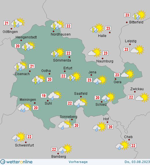 Wetter Mühlhausen Thüringen