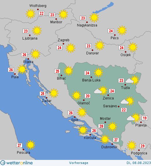 Wetter Bosnien Herzegowina