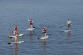 Spaß beim Stand-Up-Paddling